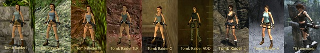 Evolução de Lara Croft - Clique para Ampliar