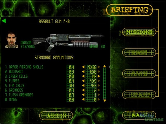 Codename Outbreak - Armamento
