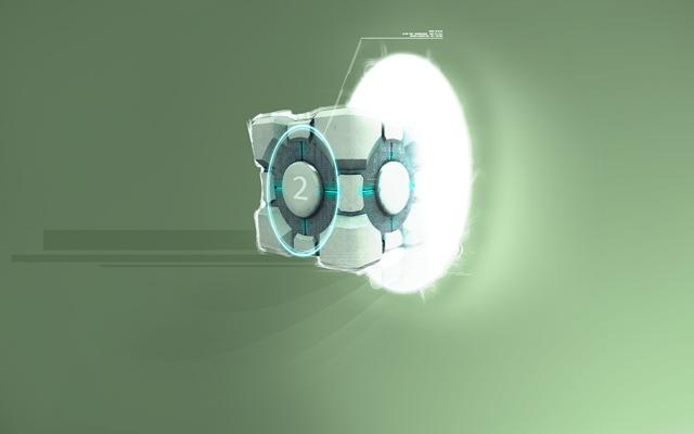 Portal 2 - Cube (1920x1200)