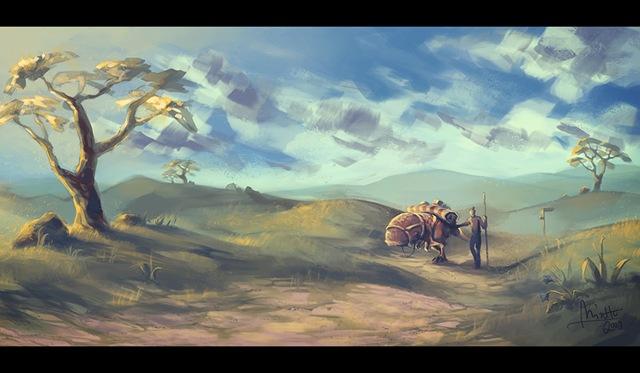 Morrowind - Grazelands Caravan (by TheMinttu)