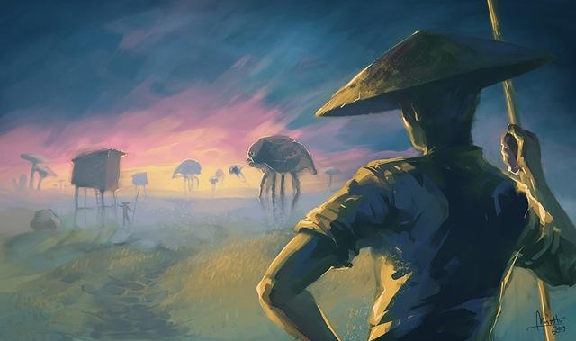 Morrowind - Netch Plantation (by TheMinttu)