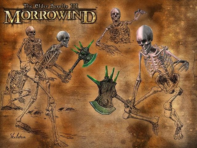 Morrowind - Esqueletos