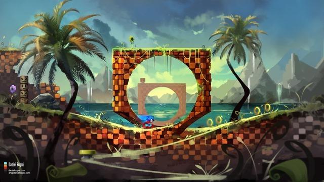 Green Hill - Sonic (by Daniel Bogni)