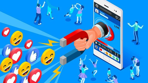 Social Influencer Concept. Media Content To Grab Like From Socia