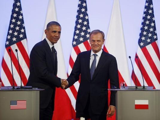 Obama e o primeiro-ministro da Polônia