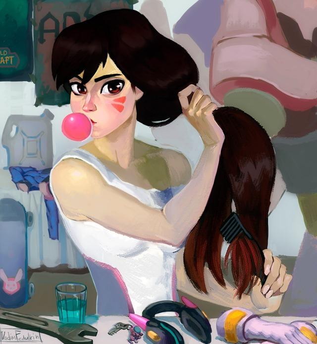 Auto-retrato na penteadeira