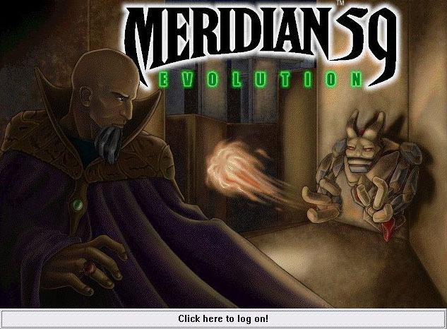 Meridian 59 - Tela de Logon