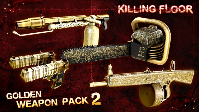 Golden Weapon Pack 2