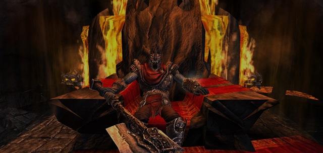 Overlord em seu trono